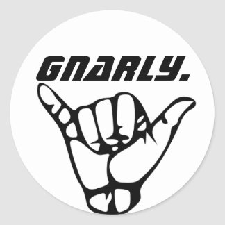 De sticker van Gnarly