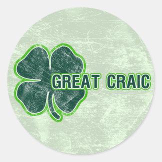 ' De Sticker van Grunge van de Klaver ` Patricks