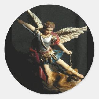 De sticker van Heilige Michael van de Beschermer