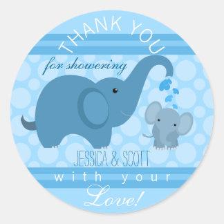 De Sticker van het Baby shower van de Olifant van
