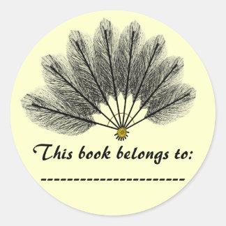 De Sticker van het Bord van de Naam van het boek