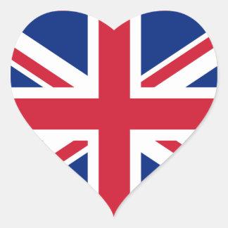 de Sticker van het Britse Hart van de Vlag