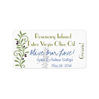 De Sticker van het Etiket van de Olijfolie Addressticker