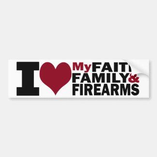 De Sticker van het geloof, van de Familie & van de Bumpersticker