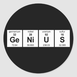 De Sticker van het genie