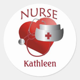 De Sticker van het Hart van de Verpleegsters van