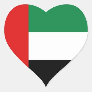 De Sticker van het Hart van de Vlag van de V.A.E