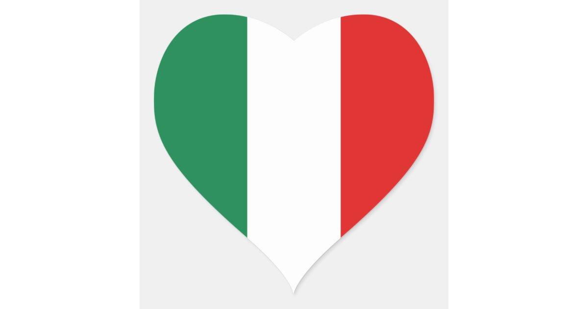de sticker van het hart van de vlag van itali235 zazzlenl