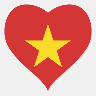 De Sticker van het Hart van de Vlag van Vietnam