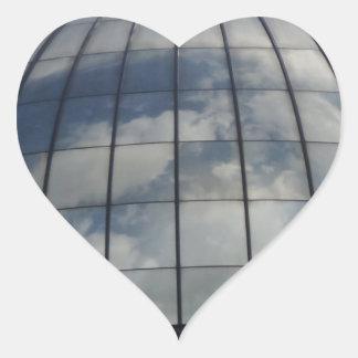 De Sticker van het Hart van wolken