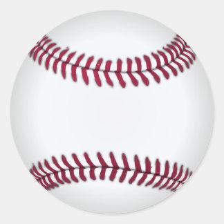 De Sticker van het honkbal