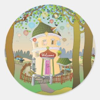 De Sticker van het Huis van de ballon