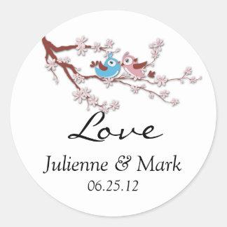 De Sticker van het Huwelijk van de Bloesem van de