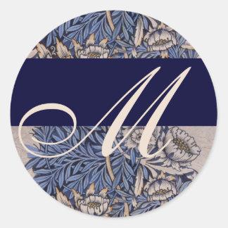 De Sticker van het Huwelijk van het Monogram van