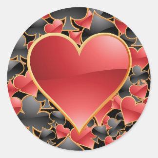 De Sticker van het Kostuum van het hart