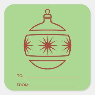 De Sticker van het Label van de Gift van de Bol