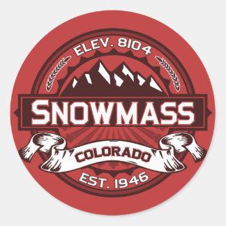 De Sticker van het Logo van de Kleur van Snowmass