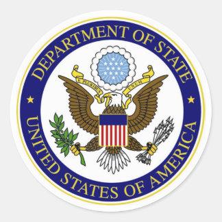 De Sticker van het Ministerie van Buitenlandse