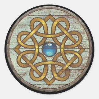 De Sticker van het Schild van Viking - Broche