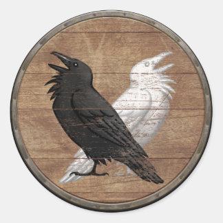 De Sticker van het Schild van Viking - de Raven