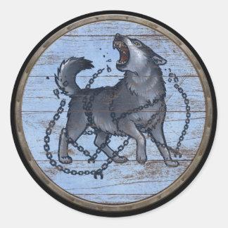 De Sticker van het Schild van Viking - Fenrir