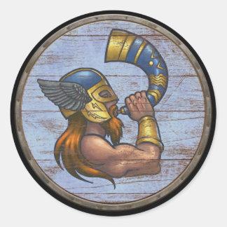 De Sticker van het Schild van Viking - Heimdallr