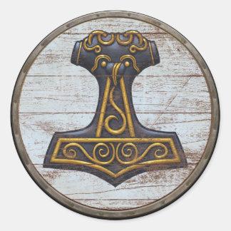De Sticker van het Schild van Viking - Mjolnir