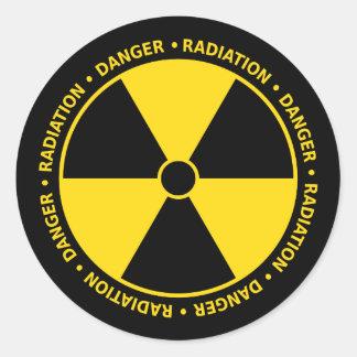 De Sticker van het Symbool van de straling