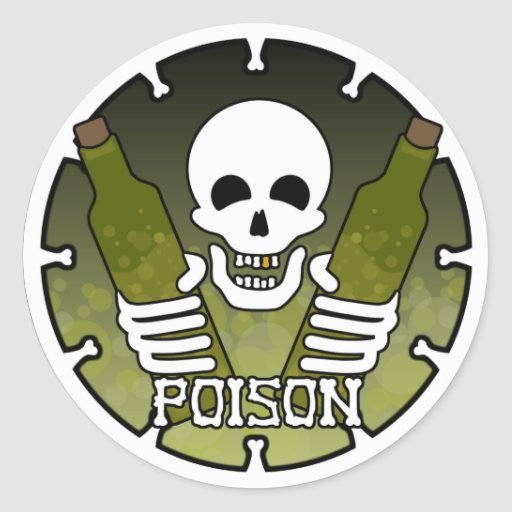 """De Sticker van het """"vergift"""""""
