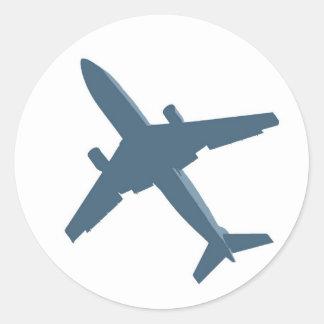 De Sticker van het vliegtuig