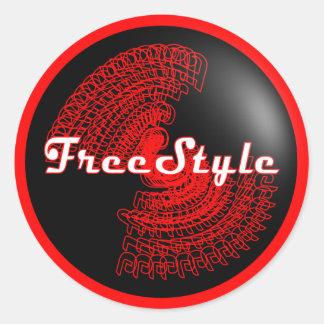 De Sticker van het vrije slag