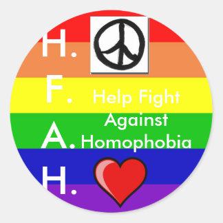 De Sticker van Homophobia van het einde