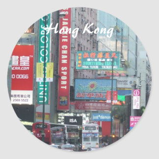 De Sticker van Hong Kong