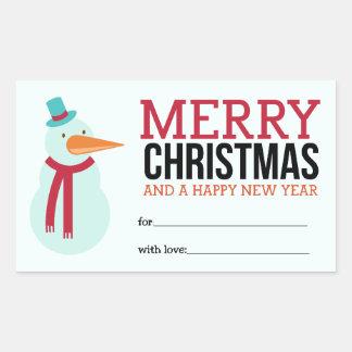 De Sticker van Kerstmis van de sneeuwman