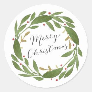 De Sticker van Kerstmis van de Twijgen van de