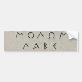 De Sticker van Labe van Molon