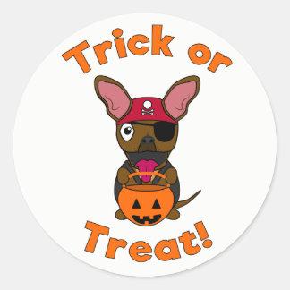 De Sticker van LexiDog van het trick or treat