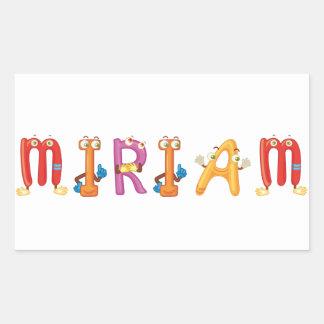 De Sticker van Miriam