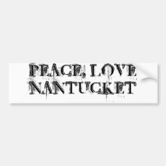 De sticker van Nantucket van de Liefde van de vred Bumpersticker