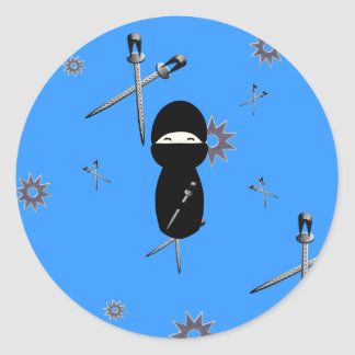 De Sticker van Ninja van Kokeshi