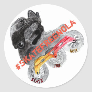 De sticker van NOLA van SkateFree