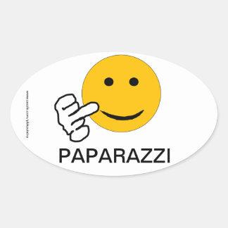 De Sticker van Paparazzi van de middelvinger
