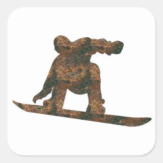 De Sticker van Snowboard van Rost