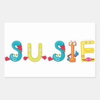 De Sticker van Susie