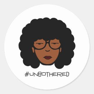 De Sticker van Unbothered