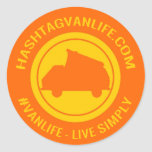 De Sticker van Vanlife van Hashtag