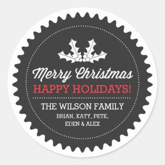 De Stickers/de Etiketten van de Gift van Kerstmis
