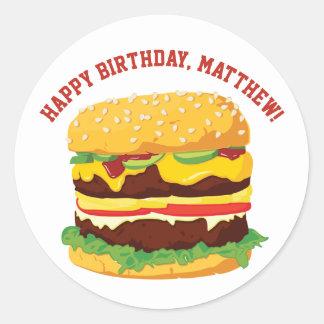 De Stickers of de Verbindingen van de Cheeseburger