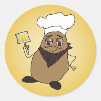 De Stickers van de Aardappel van de chef-kok