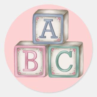 De Stickers van de Blokken van het baby
